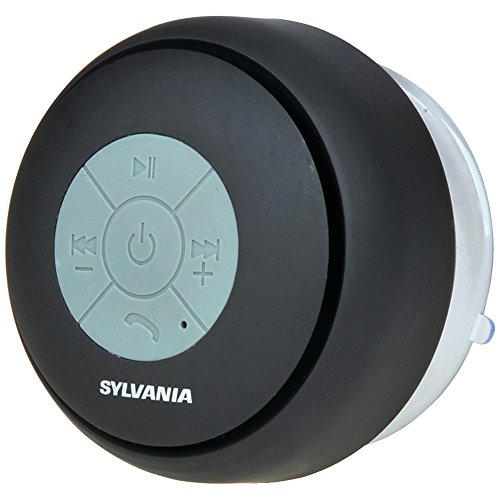 SYLVANIA SP230-BLACK Bluetooth(R) Suction Cup Shower Speaker (Black) electronic consumer