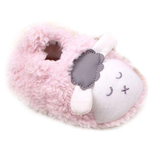 hibote Baby-Kleinkind-Schaf-Schuhe - Anti-Rutsch / Anti-out #Xier Rosa