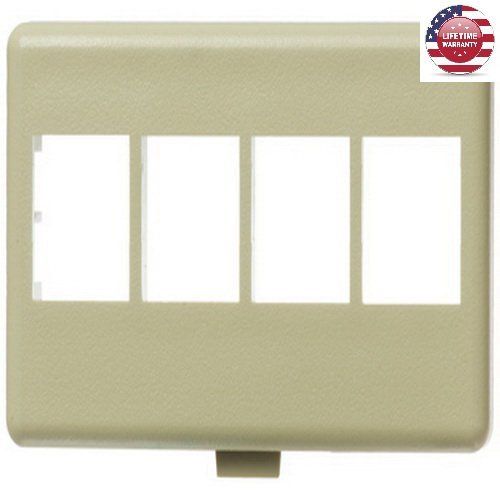 4 Port Faceplate Furniture - 5 Pack X NetKey HD Keystone Modular Furniture Faceplates - 4 Port - Ivory - By Nexiron
