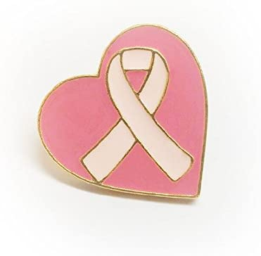 NEW Design Beautiful Pink Crystal Rose Gold Heart Ribbon Brooch Pin Breast Cancer Awareness