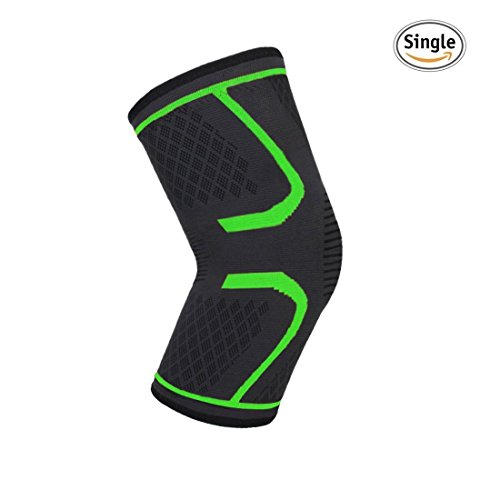 MEGAflex Knee Compression Sleeve for Running, Soccer, Jogging, Stretching and MORE to Relieve Joint Pain, Arthritis Before and After Exercise - Celebrity Style Workout