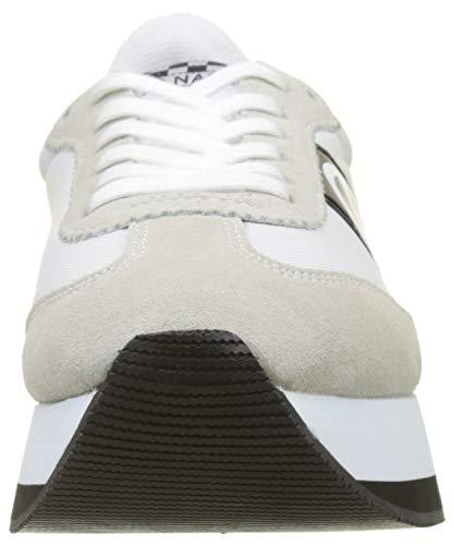 01 No Nylon Name Baskets White Femme Flex Jogger Split Blanc White vqRxSqr