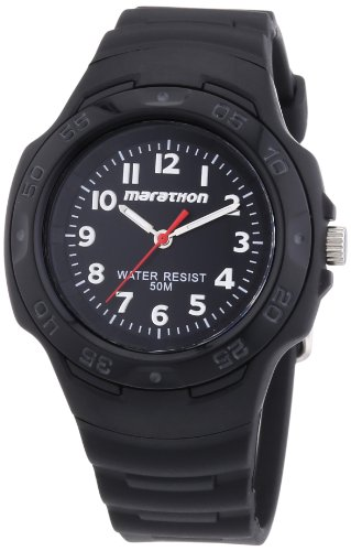 Timex Ironman Marathon Oversized Black Black Rubber Unisex Watch T5K751