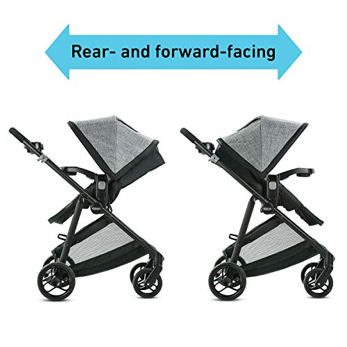 41iZ%2BubvWKL - Graco Modes Element Travel System, Includes Baby Stroller With Reversible Seat, Extra Storage, Child Tray And SnugRide 35 Lite LX Infant Car Seat, Ainsley