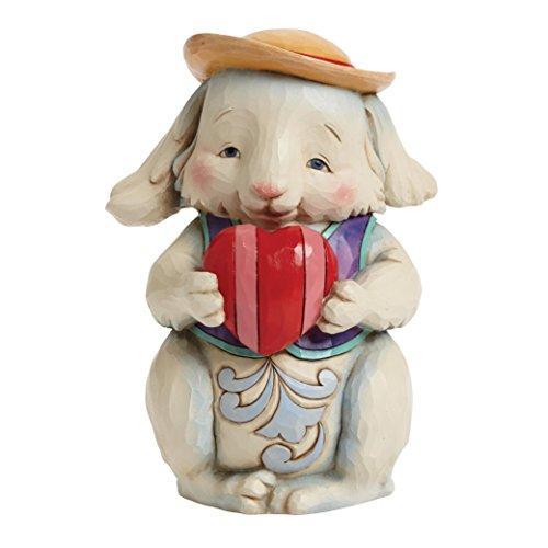 Jim Shore Pint Sized Somebunny to Love Bunny Rabbit Holding Heart Figurine