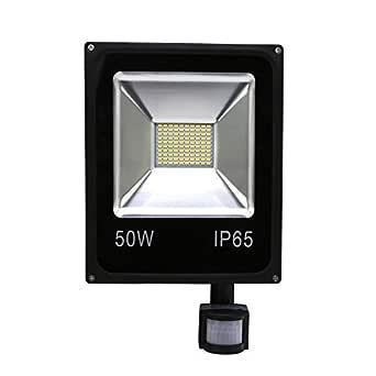 HG® 50W Blanco Cálido Foco proyector LED PIR sensor detección de movimiento IP65