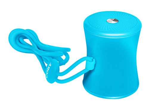 Coby Mini Portable Bluetooth Speaker with Neck Strap (Blue)