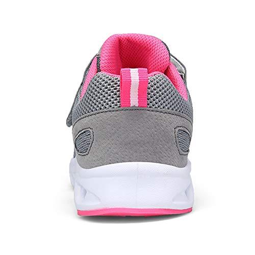Sportschuhe Hallenschuhe Herren Größe Laufschuhe Grau Damen 36 Fitnessschuhe Outdoor Zkyo Pink mit 44 Flach Klettverschluss Leicht tEqvx1HHw