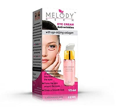 MELODYDERM® Eye Cream Anti-wrinkles - Best Eye Cream - Firms & Lifts the Skin Under and Around the Eyes - Reduce Wrinkles & Fine Lines - Fast Seen Results - With Collagen + Glycerin - Deeply Hydrates & Moisturizes the Skin Under Eyes