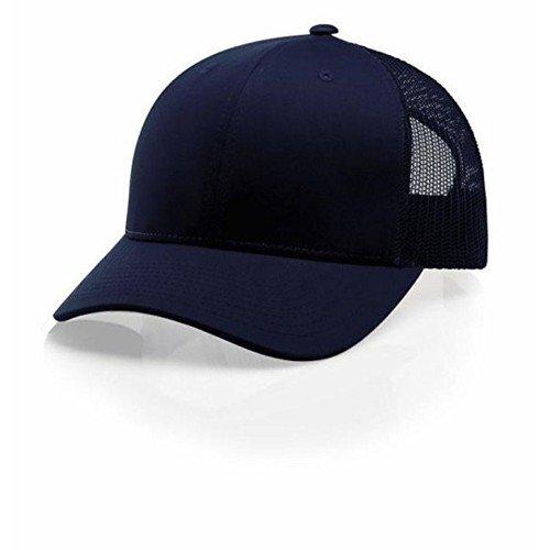 Mesh Suede Cap - Richardson Navy 112 Mesh Back Trucker Cap Snapback Hat