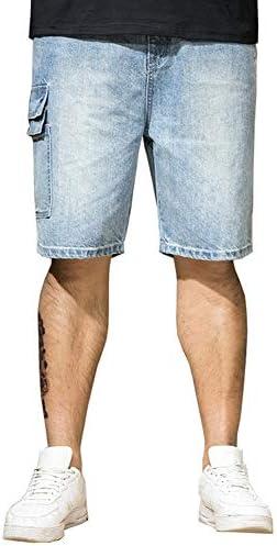 メンズ デニムショーツ ゆったり バギーパンツ ジーパン 極太 ショートパンツ 五分丈 半ズボン 大きいサイズ 4L 5L 6L 7L EH-D001