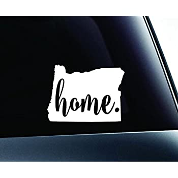 3 home oregon state salem symbol sticker decal car truck window computer laptop white
