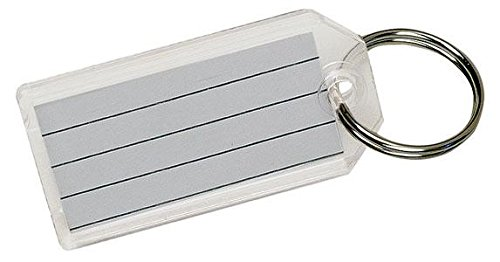 Hy-ko Clear Key Tag with Split Ring Bulk (40 count)