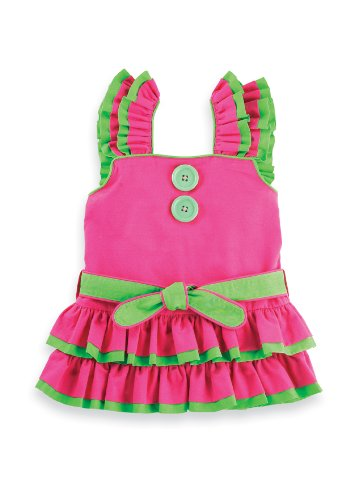 Mud Pie Little Sprout  Rumba Dress, Pink/Green, 0 6 (Mud Pie Little Sprout)