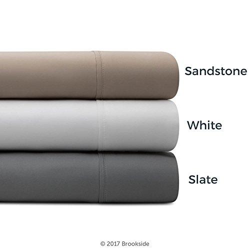 BROOKSIDE - TENCEL Sheet Set - Luxurious Feel - Great for Sensitive Skin - Sateen Weave - Eco Friendly - King - White by Brookside (Image #4)