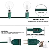 Brightown Outdoor String Light-25Ft G40 Globe Patio Lights with 26 Edison Glass Bulbs(1 Spare), Waterproof Connectable Hanging Light for Backyard Porch Balcony Deck Party Decor, E12 Socket Base, Green
