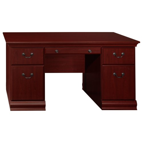 Bush Furniture Birmingham 60W Executive Desk in Harvest Cherry ()
