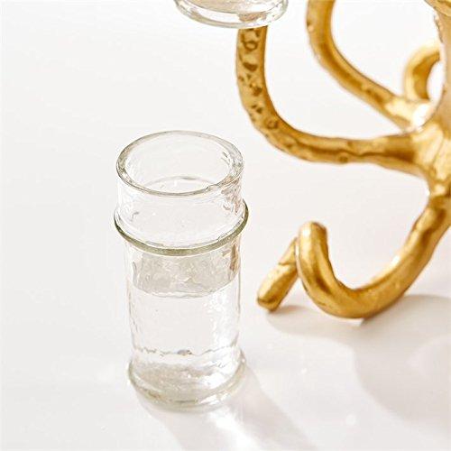 Tozai Home Octopus Design Glass Holder Includes 6 Shot Glasses MIT001