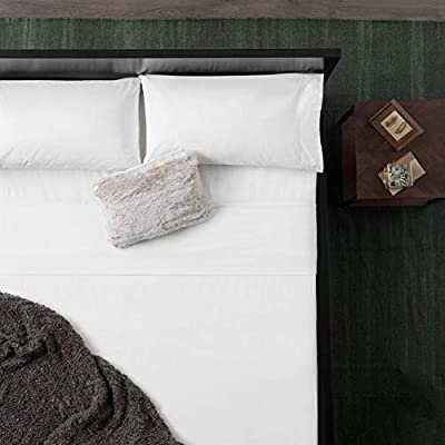 Amazon Com Malouf Wo20qqwhfs Heavyweight Portuguese Flannel Sheet Set 100 Cotton Pill Resistant Bedding Queen White Queen Home Kitchen