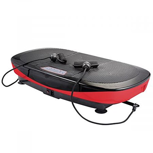 3D Dual Motor Vibration Platform Machine, 360 Degree Shake, Full Body Vibration with Remote Control, Resistance Bands & Mat