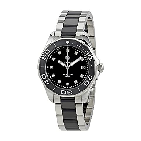Tag Heuer Aquaracer Black Dial Diamond Ladies Watch WAY131C.BA0913 (Tag Heuer Women Black)