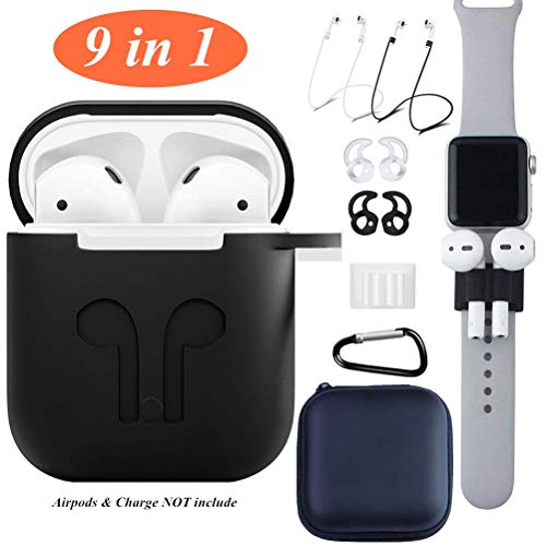 AirPods Case Cover,9 in 1 Kits Airpods Accessories Set Prote