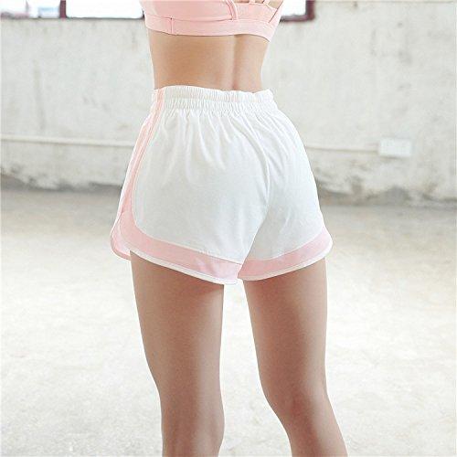 Corti Sportivi Elastico Pantaloni HaiDean Vita Due Running Pantaloncini Shorts Donna Pezzi Casual Pink In Asciugatura Rapida Yoga Estive Fake Corti Giovane Hippie BqRACx4w