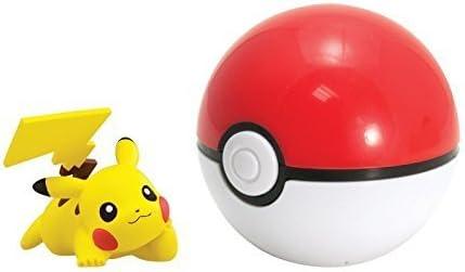 POKEMON FIGURAS/FIGURAS COLECCIONABLES en Pokeball ALOLA Ofensiva con DEM Pikachu con Pokeball