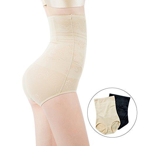 ShangMu Women's High Waist Shapewear Seamless Anti Bacterial Shaper Panty (XS, Nude)