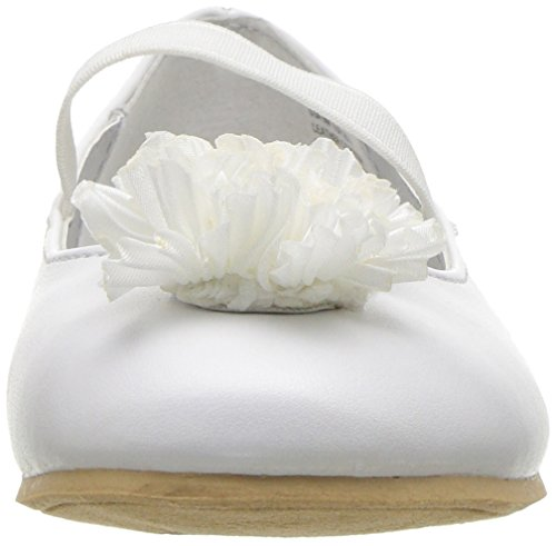 Nina Girls' Jemma-t Ballet Flat, White, 7 M US Toddler - Image 4