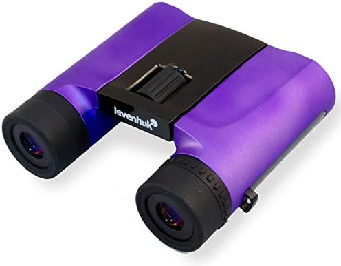 Levenhuk Rainbow 8×25 Amethyst Binoculars for Traveling, Hiking, Bird Watching, Theater and Sport Events, Ideal for Kids and Adults Ultra Lightweight 9.88 oz