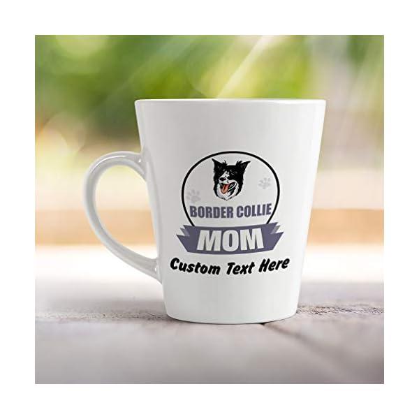 Ceramic Custom Latte Coffee Mug Cup Mom Border Collie Dog Tea Cup 12 Oz Personalized Text Here 4