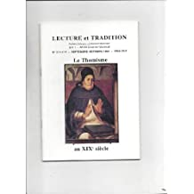 Lecture et tradition n°211-212 le thomisme au XIXe siecle
