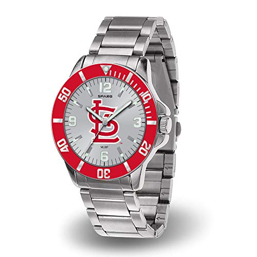 - St Louis Cardinals MLB Key Watch with Stainless Steel Band