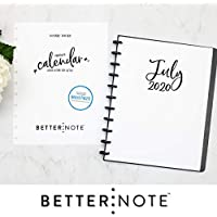 "BetterNote July 2020 - June 2021 Academic Monthly Calendar for Disc-Bound Planners, Fits 11-Disc, Levenger Circa, Arc Staples, TUL by Office Depot, Letter Size 8.5""x11"" Whimsy (Notebook Not Included)"
