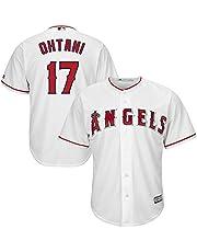 YQSB Camiseta Deportiva Baseball Jersey Major League Baseball Los Angeles Angels # 17 Ohtani Baseball Wear
