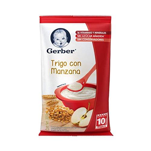 Gerber Cereales Trigo con Manzana, Etapa 3, (6 Piezas)