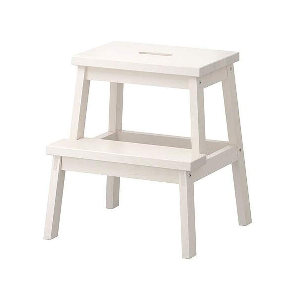 White QYSZYG Step Stool Bekam Step Stool Change shoes Bench Stair Stool High and Low Creative Solid Wood Small Ladder Stool Step Ladder Step Stool (color   Yellow)