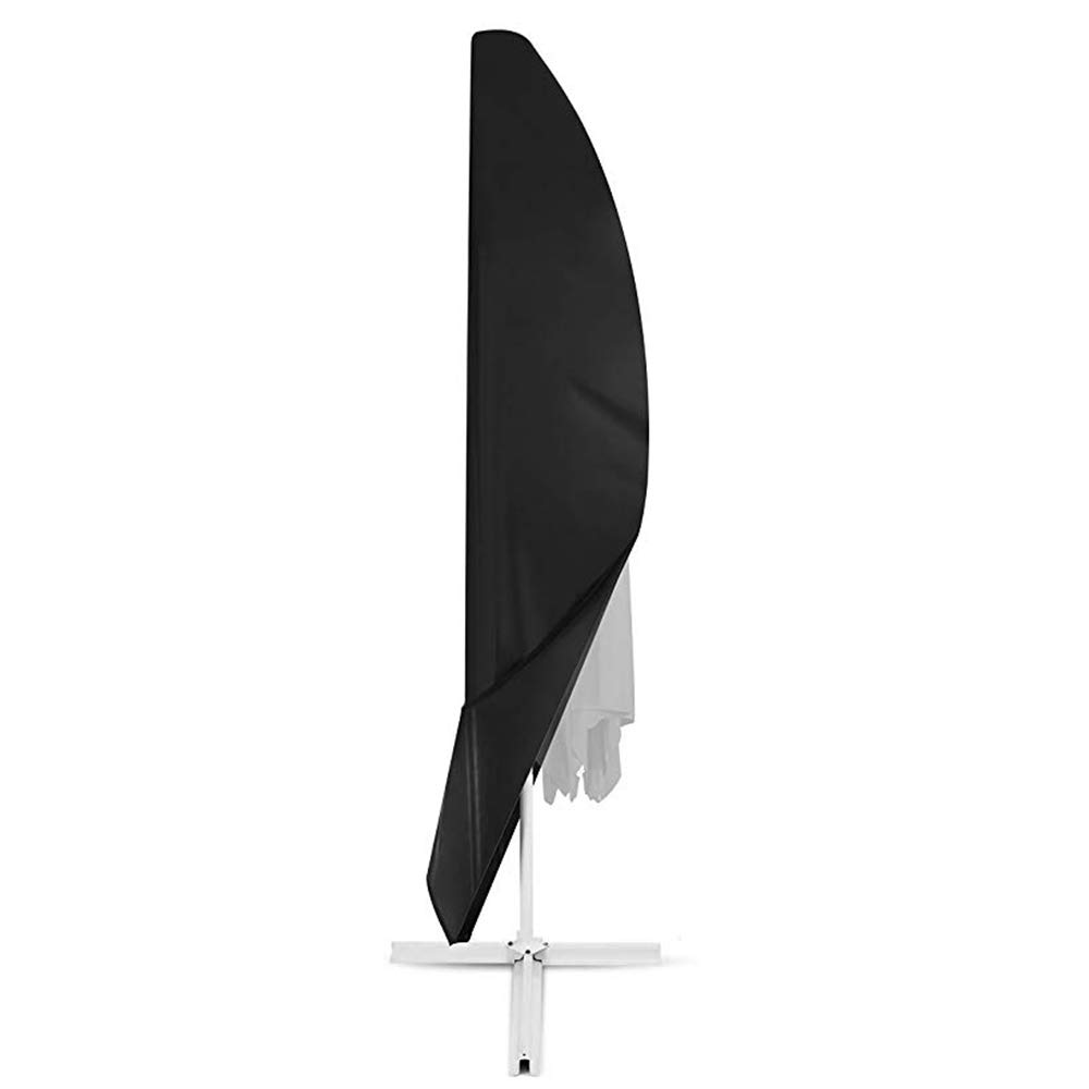 Furniture Cover Protective Cover, Outdoor Parasol Dust Cover, Waterproof and Breathable 420D Oxford Cloth Garden Umbrella Cover, Black,Black,813046cm