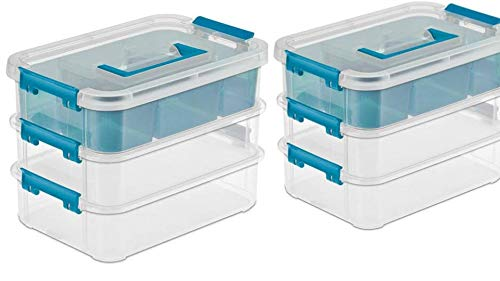 Thick Stack - STERILITE 14138606 Layer Stack & Carry Box, 10-5/8-Inch (2 Pack)