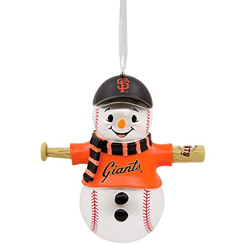 Mlb Baseball Snowman Ornament - Hallmark MLB San Francisco Giants Baseball Snowman Ornament Sports & Activities,City & State