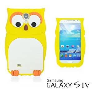 OnlineBestDigital - Owl Style 3D Silicone Case for Samsung Galaxy S4 IV I9500 / I9505 - Yellow