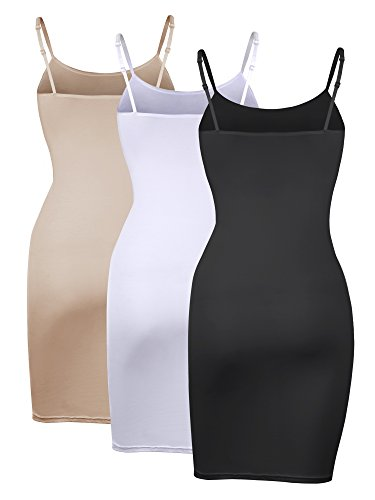 Dress Long Solid Women Pieces 2 Multicolor Strap Top Basic WILLBOND 3 Cami Color with Tanks X8PwZXq5
