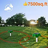 2x VS-312S Solar Powered Sonic Snake Repellent Help You Get Rid of Snake Mole Gophers for Outdoor Garden Yard
