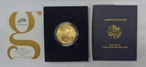 2007 W American 1 oz Gold Eagle $50 Uncirculated US - Gold 2007 American Coins Eagle