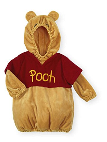 Disney Infant Boys Girls Toddler Plush Hooded Winnie The Pooh Costume