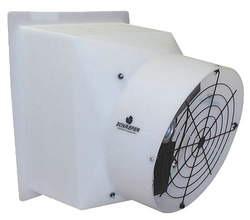 Agricultural Exhaust Fan - Schaefer Systems - GPFM244P12A - 115/230V Direct Drive, Preassembled, Adjustable Speed Agricultural Exhaust Fan, 1/2HP