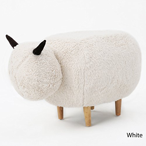 Pearcy Velvet Sheep Ottoman by Pearcy