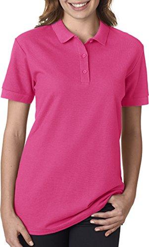 Gildan 82800L Premium Cotton Ladies Polo - Heliconia - M