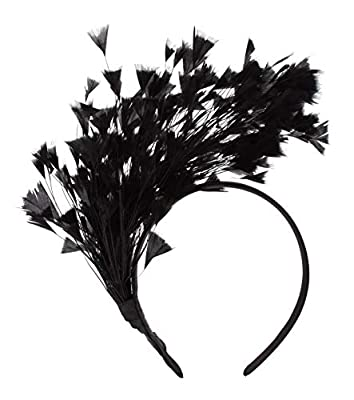 1920s Feather Headband Fascinator Kentucky Derby Boa Headpiece Cocktail Mardi Gras Headwear for Women